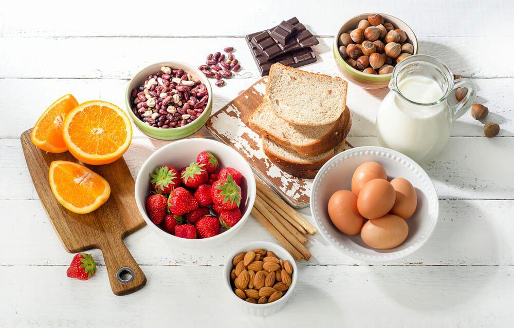 assortment of food options